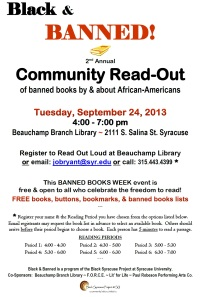 banned books community read-out flier 2013